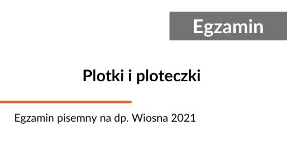 Egzamin pisemny na doradcę podatkowego. Sesja wiosna 2021